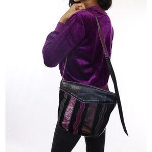 Vintage Multicolor Leather Sharif Purse
